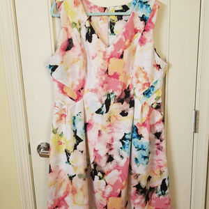 Worthington Size 20 Flower Fit and Flair Dress